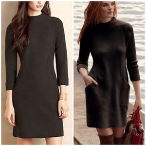 Anthro Sparrow Boiled Wool Mock Neck Sweater Dress